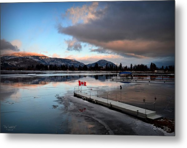 Icy Sunrise 001 Metal Print