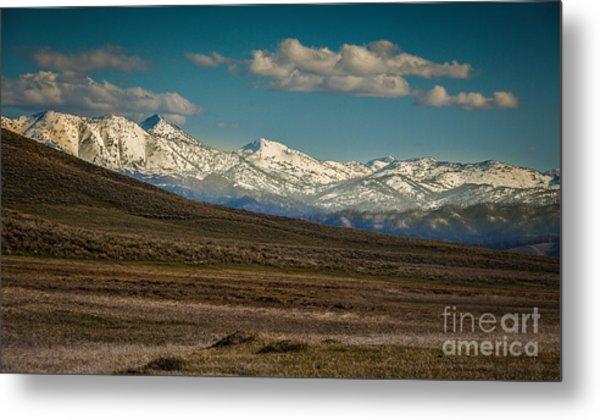 Idaho Spring Mountain Snow Metal Print