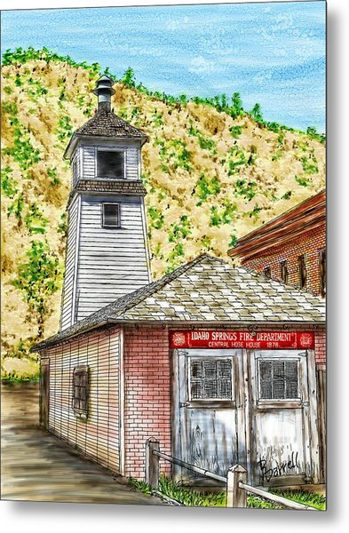 Idaho Springs Firehouse Metal Print