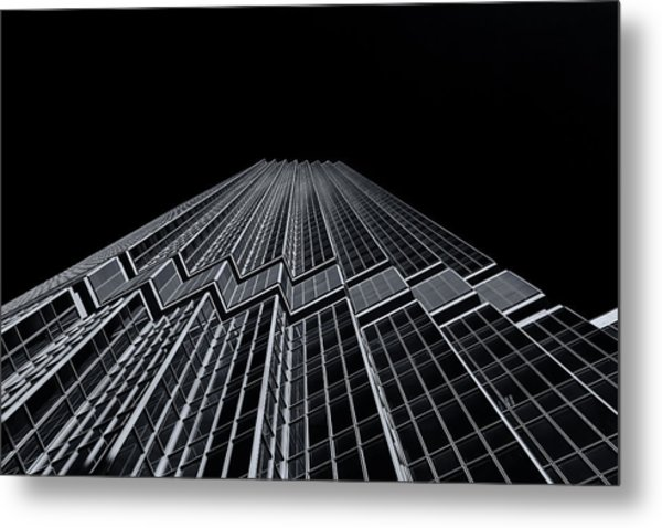Ids Tower Minneapolis  Mono Metal Print