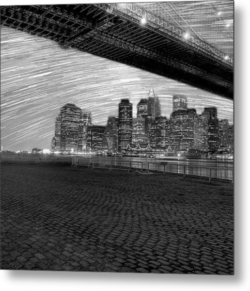 If Only Nyc Had No Light Pollution Metal Print