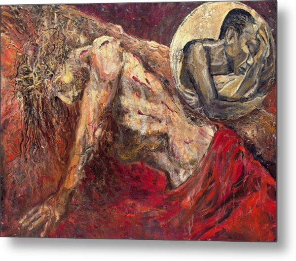 IIi Station Jesus Falls For The First Time Metal Print