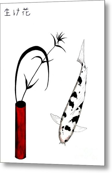 Ikebana Utsuri Mono Metal Print by Gordon Lavender