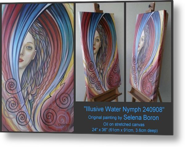 Illusive Water Nymph 240908 Metal Print