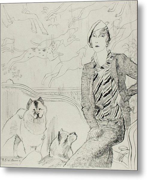 Illustration Of Baronne Eugene De Rothschild Metal Print by Rene Bouet-Willaumez