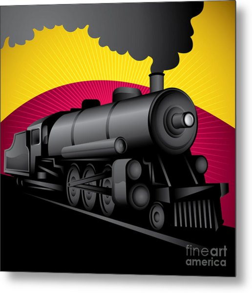 Illustration Of Old Stylized Metal Print