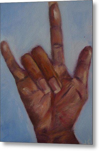 Ily Hand Study Metal Print