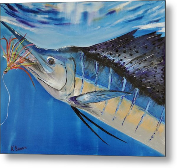 Metal Print featuring the painting I'm Caught by Kevin Brown