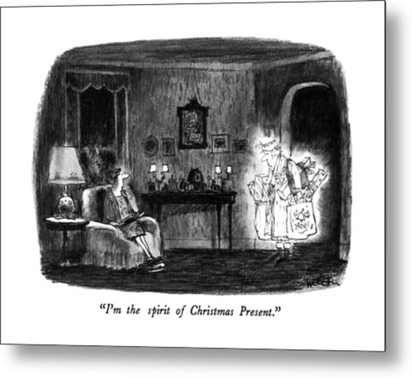 I'm The Spirit Of Christmas Present Metal Print