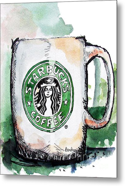 I'm Thinking Starbucks Metal Print