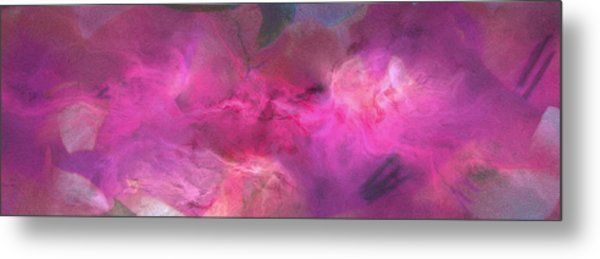 Imagination In Ruby Fire - Abstract Art Metal Print