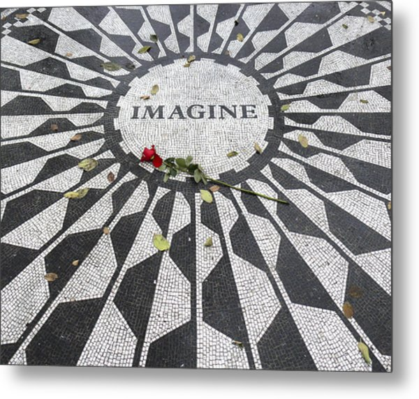 Imagine Mosaic Metal Print