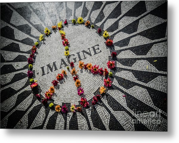 Imagine Peace Metal Print by Stacey Granger