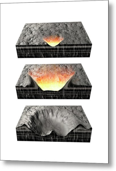 Impact Crater Formation Metal Print