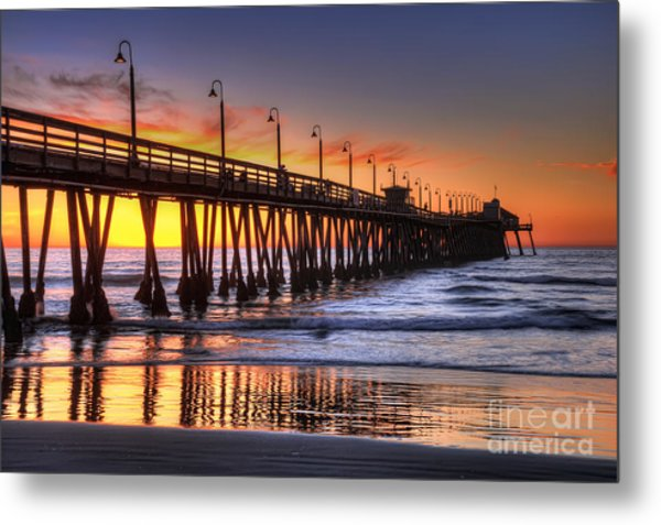 Imperial Beach Pier Metal Print