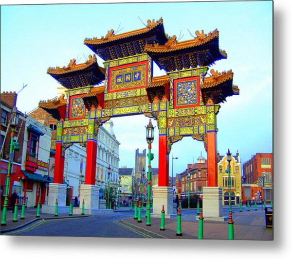 Imperial Chinese Arch Liverpool Uk Metal Print
