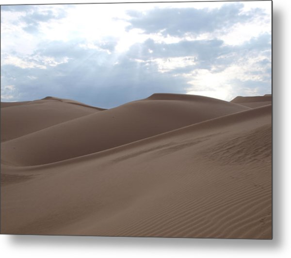Imperial Sand Dunes Southern California Metal Print