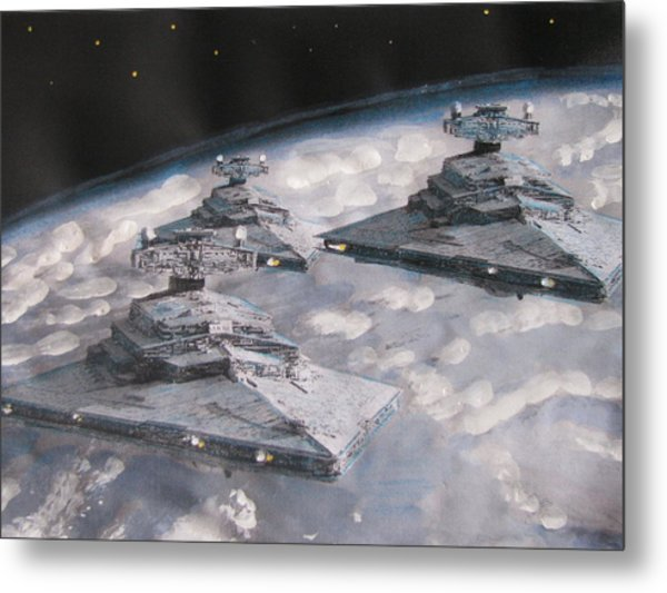 Imperial Star Ship Destroyers Metal Print