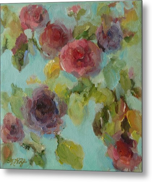 Impressionist Floral  Metal Print