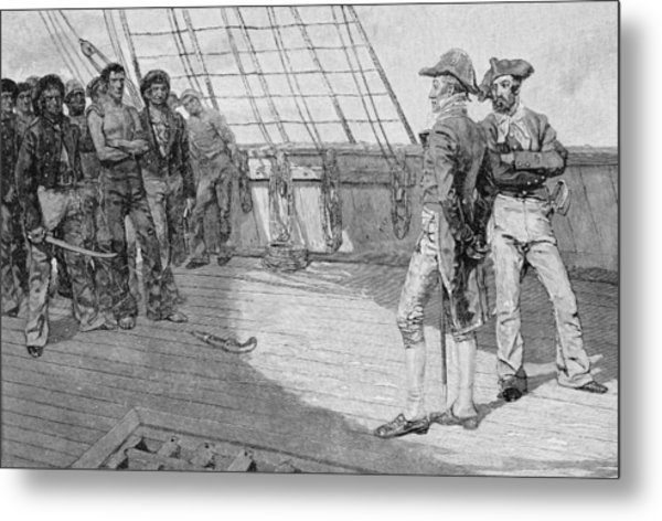 Impressment Of American Seamen, Illustration From Our Countrys Cradle By Thomas Wentworth Metal Print