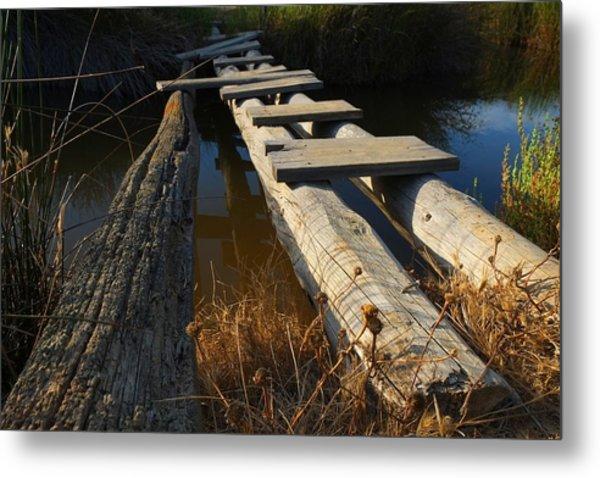 Improvised Wooden Bridge Metal Print