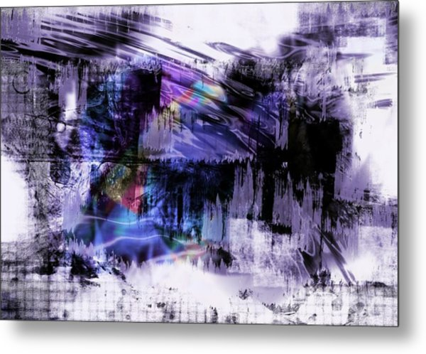 In A Violet Rhythm Metal Print
