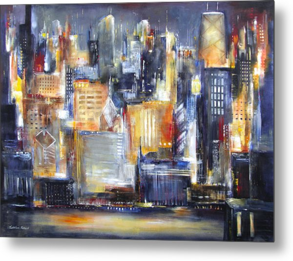In Chicago Tonight Metal Print by Kathleen Patrick