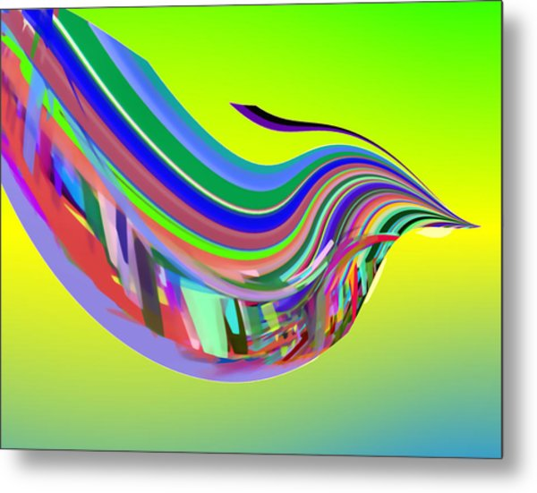 In Flight With Sbux Metal Print