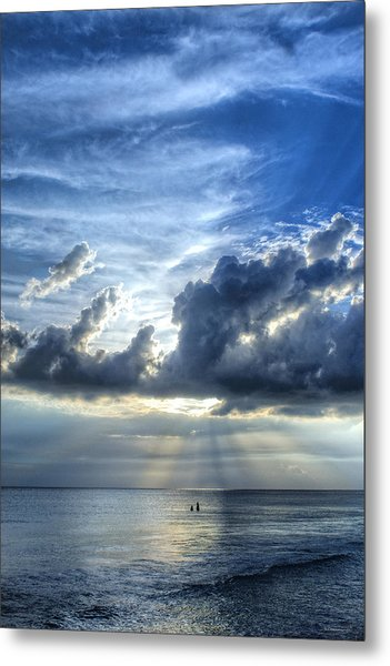 In Heaven's Light - Beach Ocean Art By Sharon Cummings Metal Print