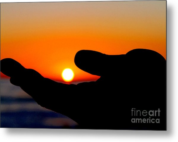 In His Hands By Diana Sainz Metal Print