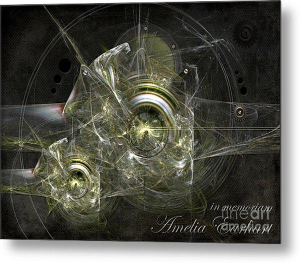 In Memoriam Amelia Earhart Metal Print