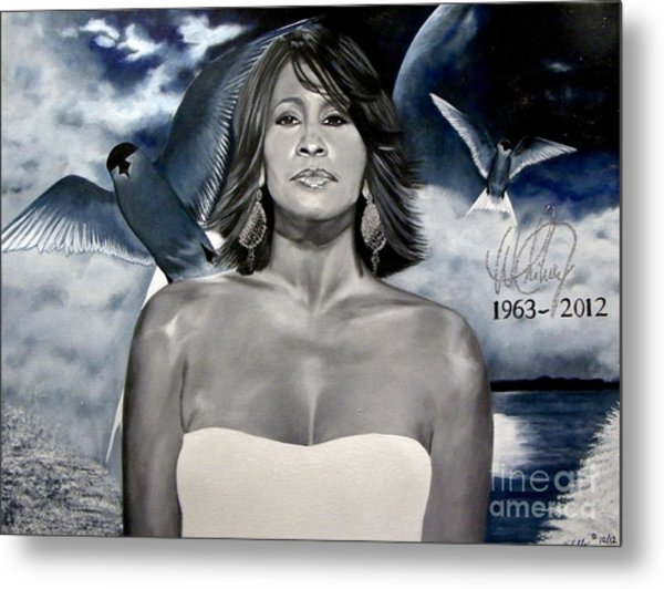 In Memory Of...whitney Houston Metal Print