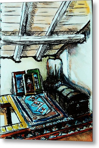 In The Attic Metal Print by Anne Parker