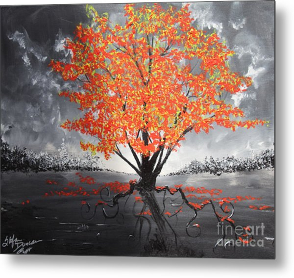 Blaze In The Twilight Metal Print