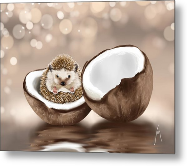 In The Coconut Metal Print