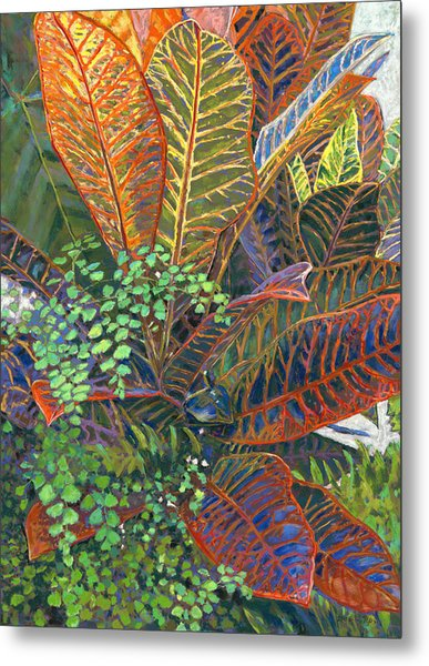 In The Conservatory - 2nd Center - Orange Metal Print