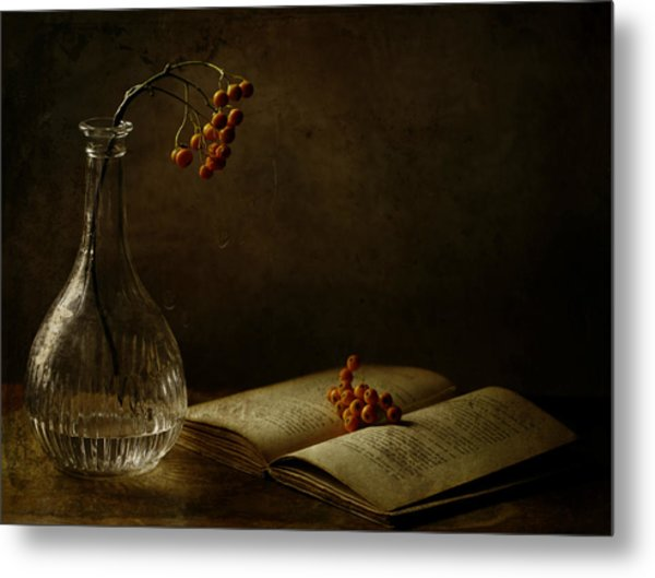 In The Dark Of My Days Metal Print by Delphine Devos