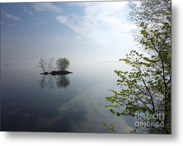 In The Distance On Mille Lacs Lake In Garrison Minnesota Metal Print