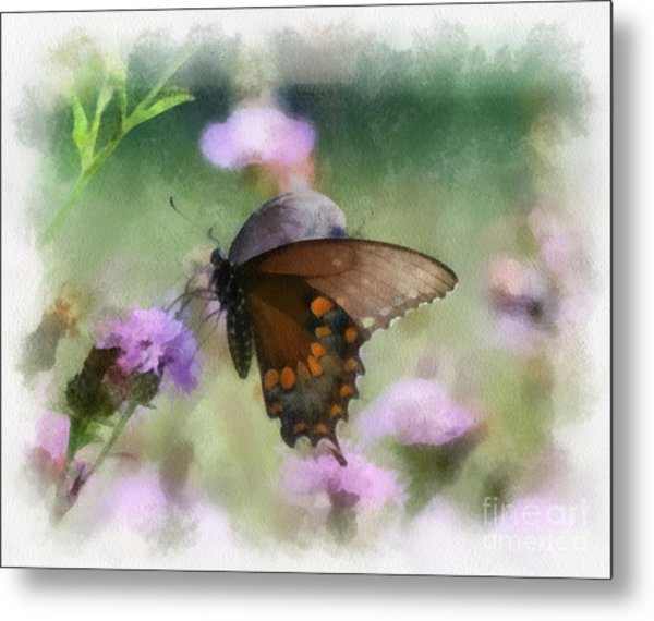 In The Flowers Metal Print