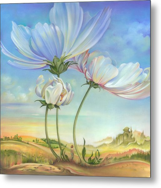 In The Half-shadow Of Wild Flowers Metal Print