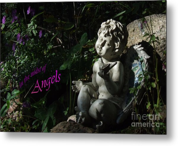 in the midst of Angels Metal Print