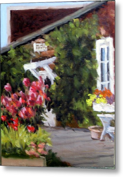 In The Patio Metal Print by Char Wood