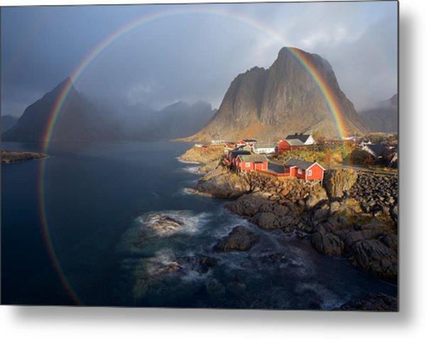 In The Rainbow Metal Print by Nicolas Schneider