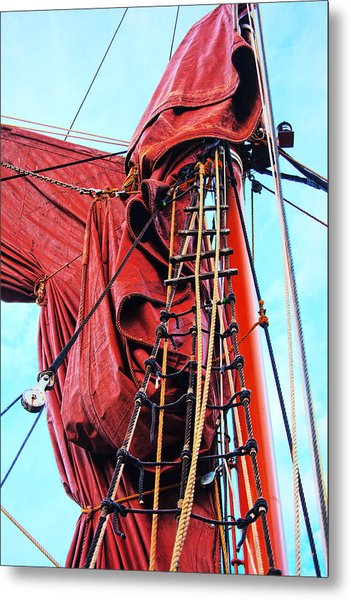 In The Rigging Metal Print