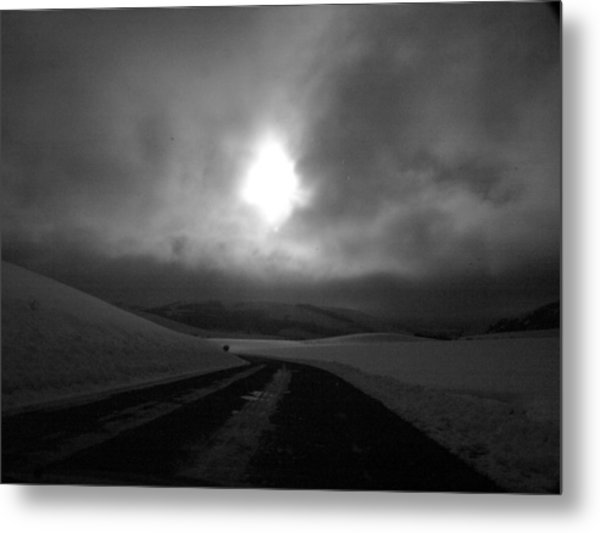 In The Road Metal Print