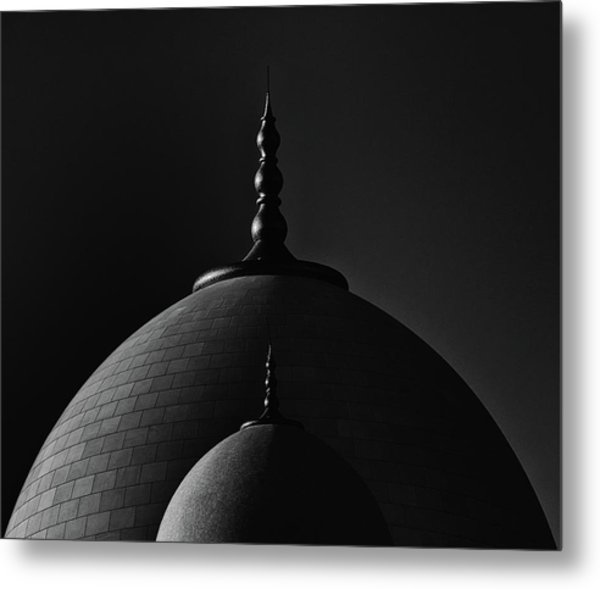 In The Shadow Of A Big Dome Metal Print