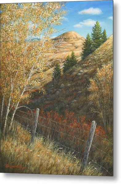 Belt Butte Autumn Metal Print
