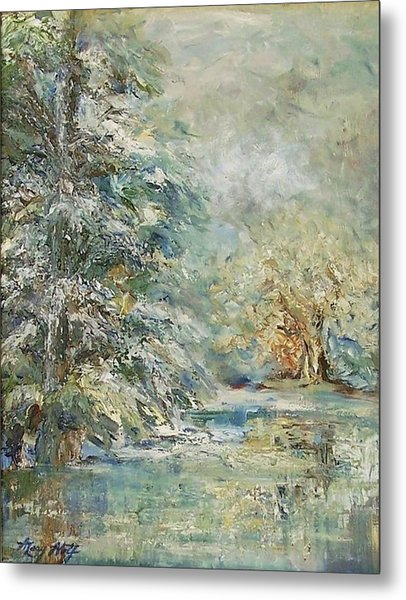 In The Snowy Silence Metal Print