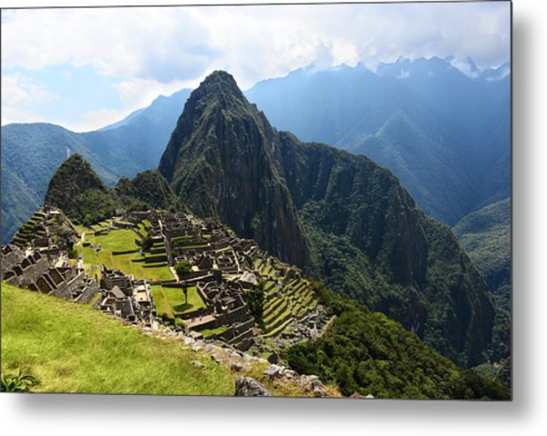 Inca City Machu Picchu Metal Print