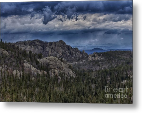 Incoming Storm Over The Black Hills Of South Dakota Metal Print